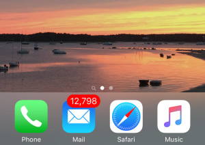 A busy iPhone screen email icon is so common, but a handwritten note stands out.