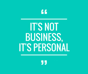 """This quote is also about a handwritten note, it read """"it's not business, it's personal"""""""