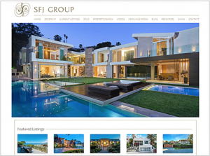 One of our real estate marketing tips includes having an attractive website, like this one.