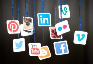 The third of our real estate marketing tips is to get active on social media, specifically the icons here.