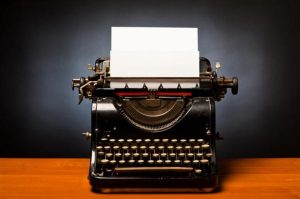 The second of our real estate marketing tips is to create a newsletter. If you're going for a unique look, use this typewriter here.