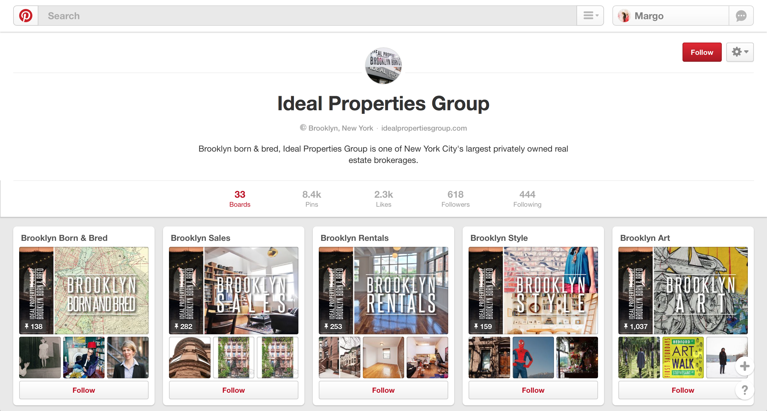 using specific pin boards is one of our real estate marketing tips for pinterest
