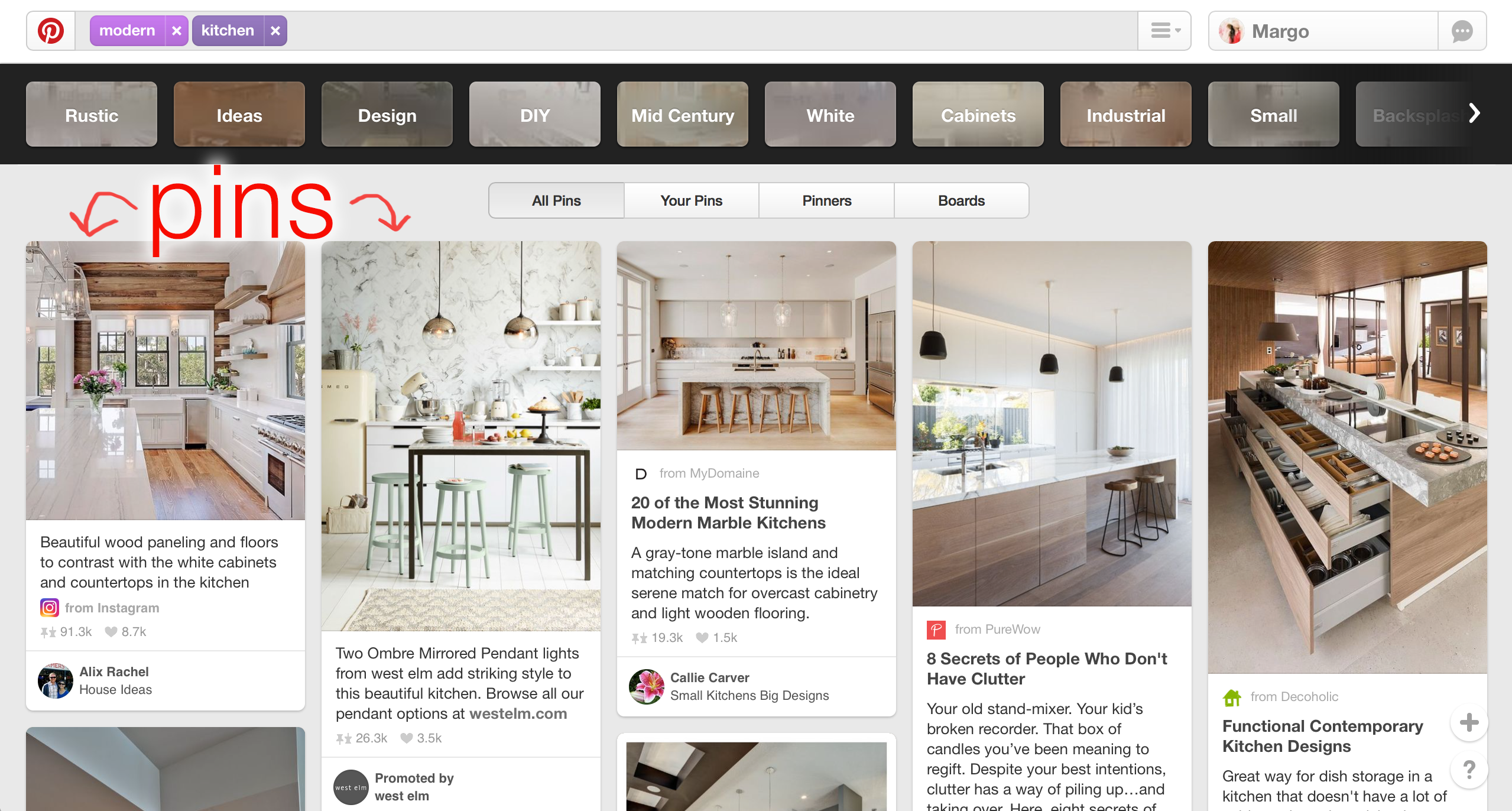 one of our real estate marketing tips for pinterest is to use relevant pins for pin boards